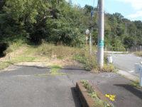 国道一号線 市山新田付近旧道入り口「臼転坂」