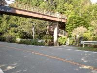 諏訪神社前の歩道橋(旧東海道専用)